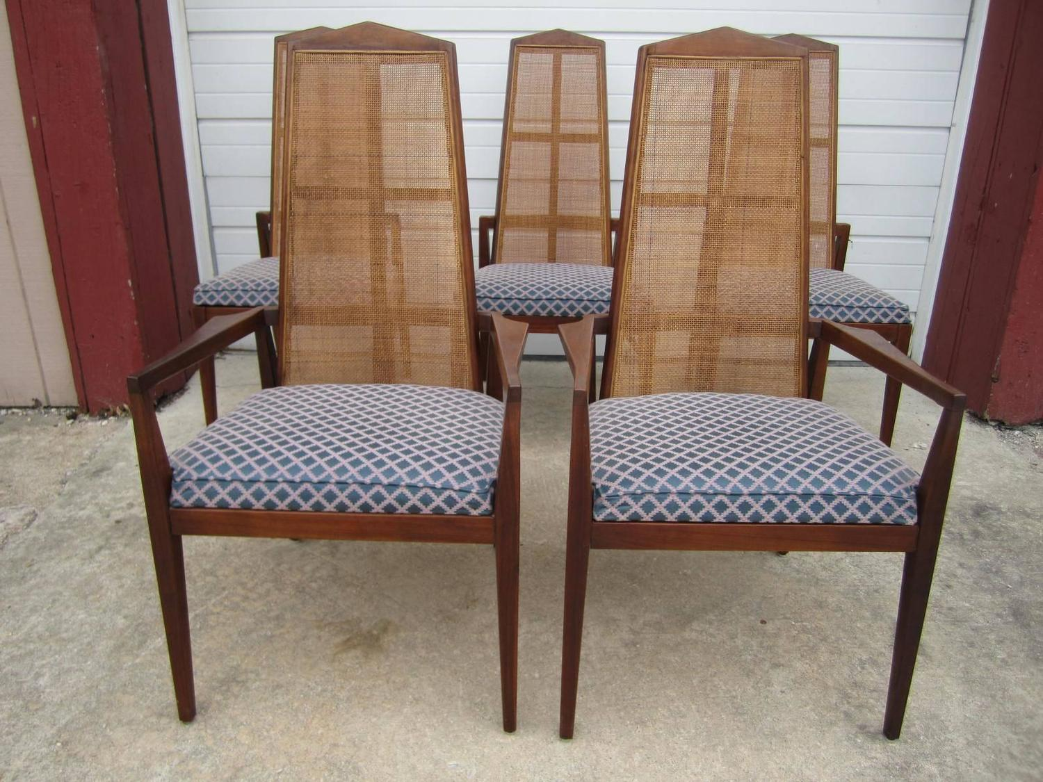 cane dining chairs for sale bedroom chair nz 5 walnut foster and mcdavid back mid