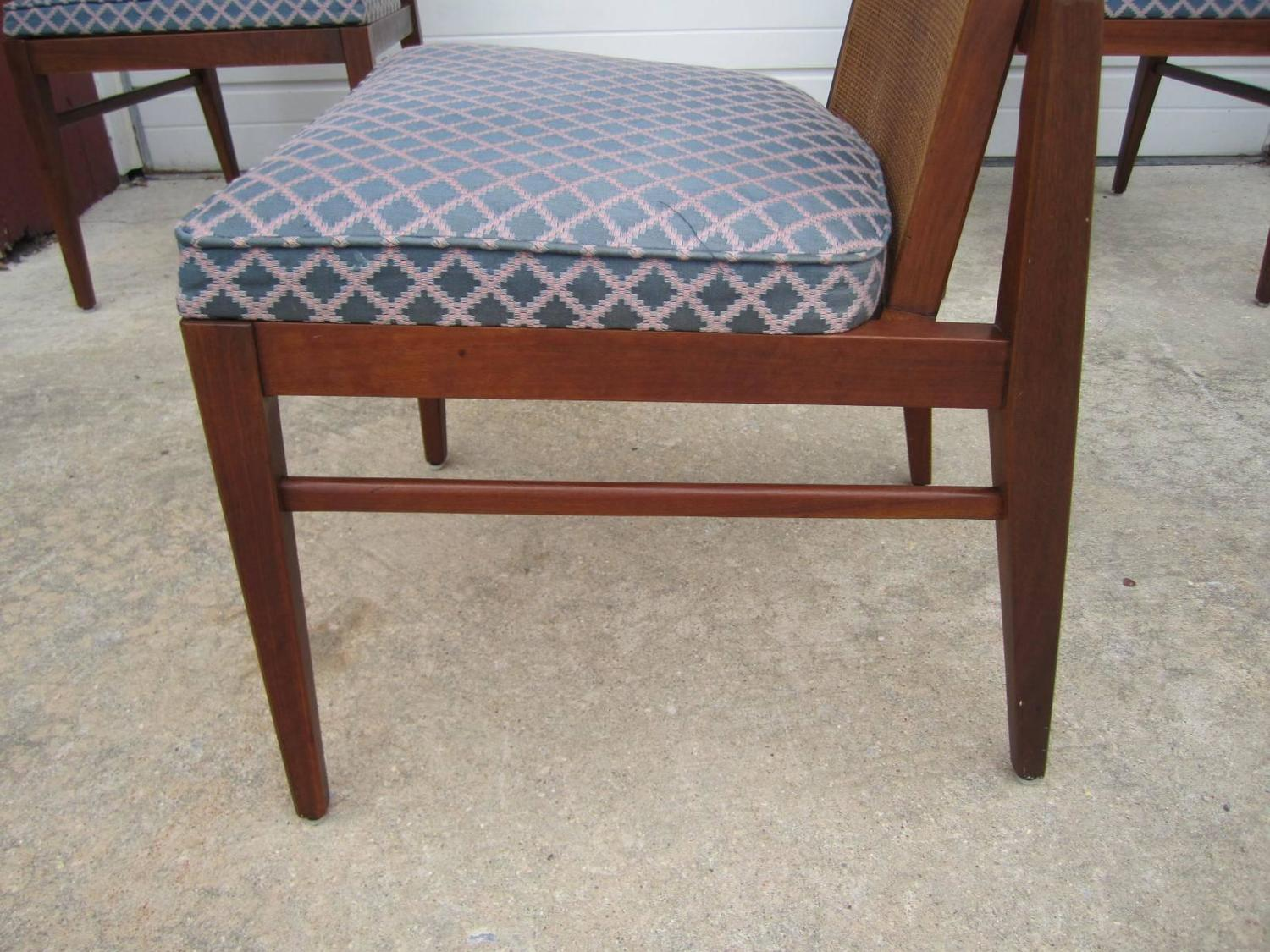 cane dining chairs for sale best multi position beach chair 5 walnut foster and mcdavid back mid