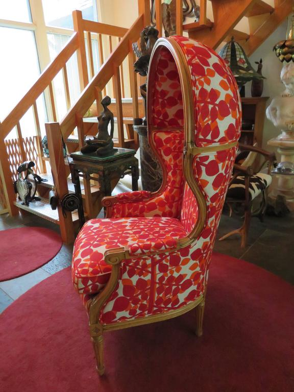 french canopy chair cheap sofa chairs exciting mid century modern hood for sale at 1stdibs vintage carved re upholstered with linen we went a