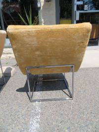 Fabulous Pair of Milo Baughman Chrome Scoop Slipper Chair ...