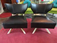 Fun Pair of Kroehler Bat Wing Swivel Slipper Chairs, Mid ...