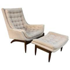 Adrian Pearsall Lounge Chair Sheepskin Pad High Back And Ottoman At 1stdibs