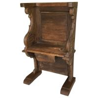 Early Gothic Medieval Cathedral Solid Oak Misericord Bench