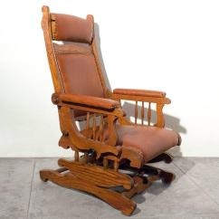Old Fashioned Rocking Chairs Used Wheelchair Lift Victorian Platform Rocker With Foot Rest Circa 1890 At