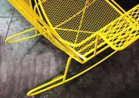 Mid-Century Metal Mesh Patio Rocking Chair at 1stdibs