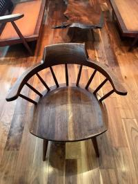 Set of Four Captain Chairs by George Nakashima For Sale at