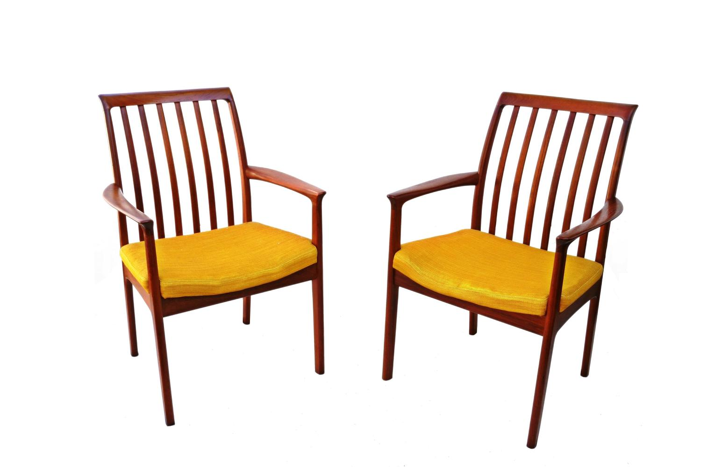 teak dining room chairs for sale tilt in space shower chair six danish modern folke ohlsson dux