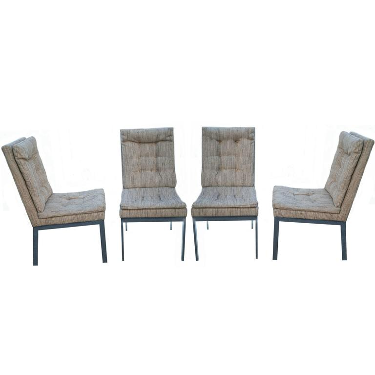 milo baughman dining chairs baby high that recline for design institute of america dia at sale