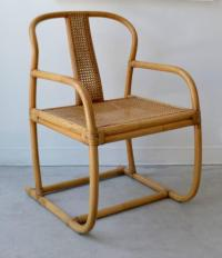 Mid-Century Bent Bamboo Occasional Chair at 1stdibs