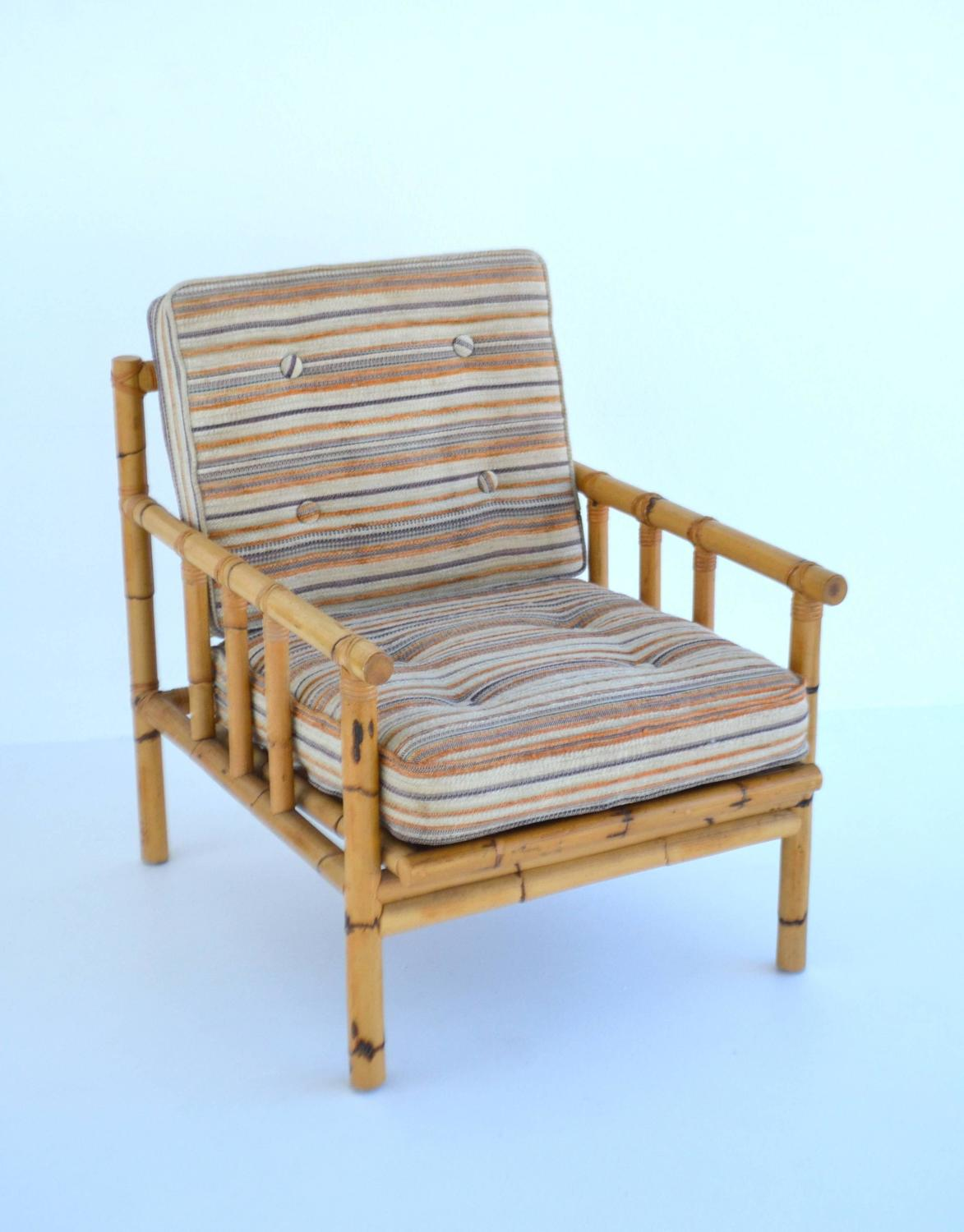 Mid Century Club Chair Mid Century Bamboo Club Chair For Sale At 1stdibs