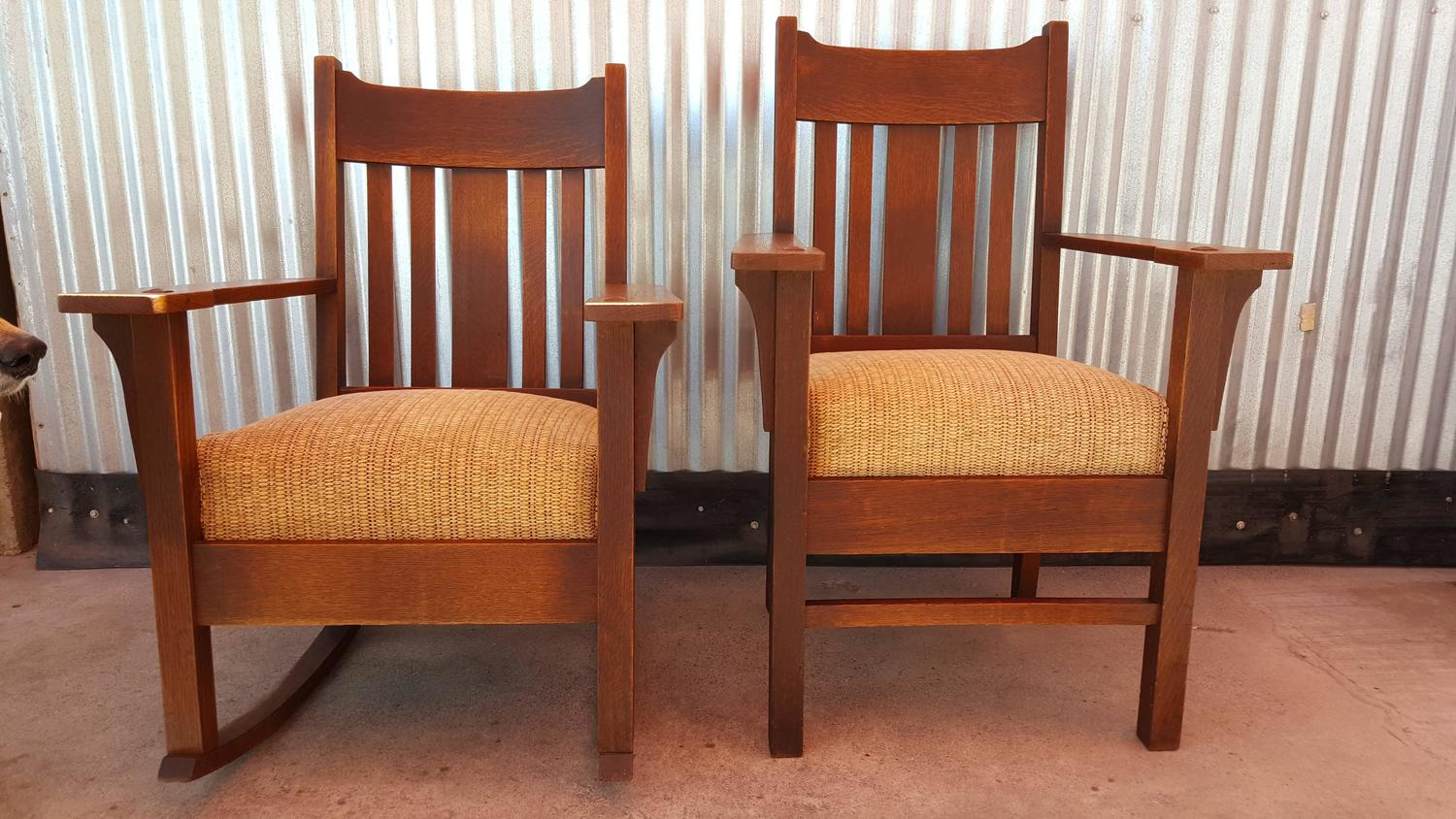 mission chairs for sale used party tables and arts crafts rocker armchair by harden