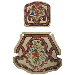 Chair Covers Vintage For Gliders Set Of Antique Floral Tapestry Needlework