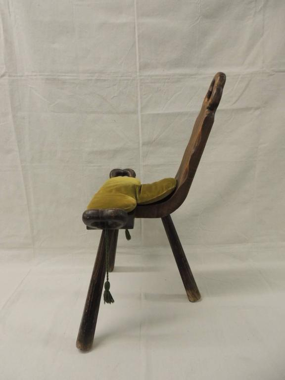 """handmade wooden chairs seat warmer for office chair vintage primitive african """"birthing"""" at 1stdibs"""