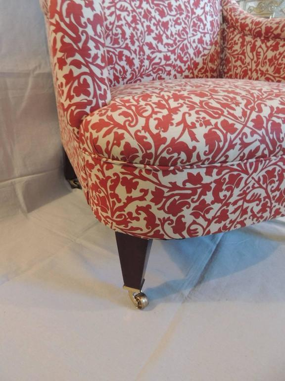 Classic George Smith Upholstered Armchair In India Flower