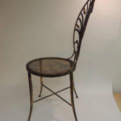 Green Metal Bistro Chairs Bedroom Chair Gumtree London Hollywood Regency Style Italian Gilt Wheat Sheaf At 1stdibs