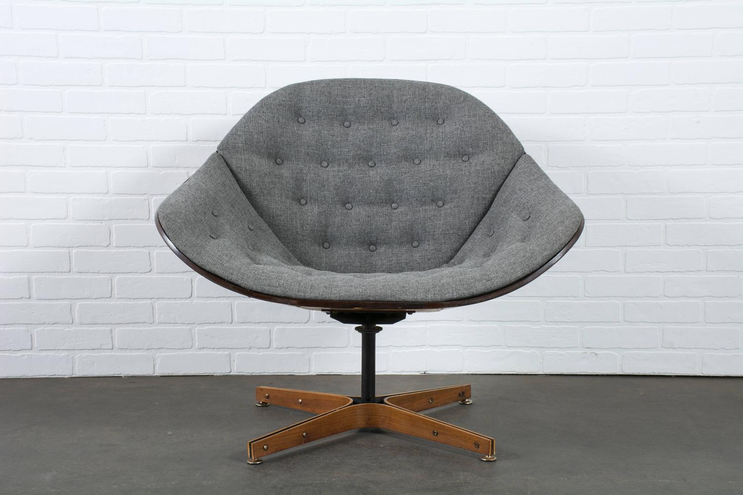 swivel chair mid century covers and sashes for sale vintage lounge by george