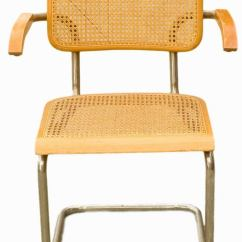 Marcel Breuer Cesca Chair With Armrests Desk Swivel Wicker Back Chrome Chairs For Sale At 1stdibs