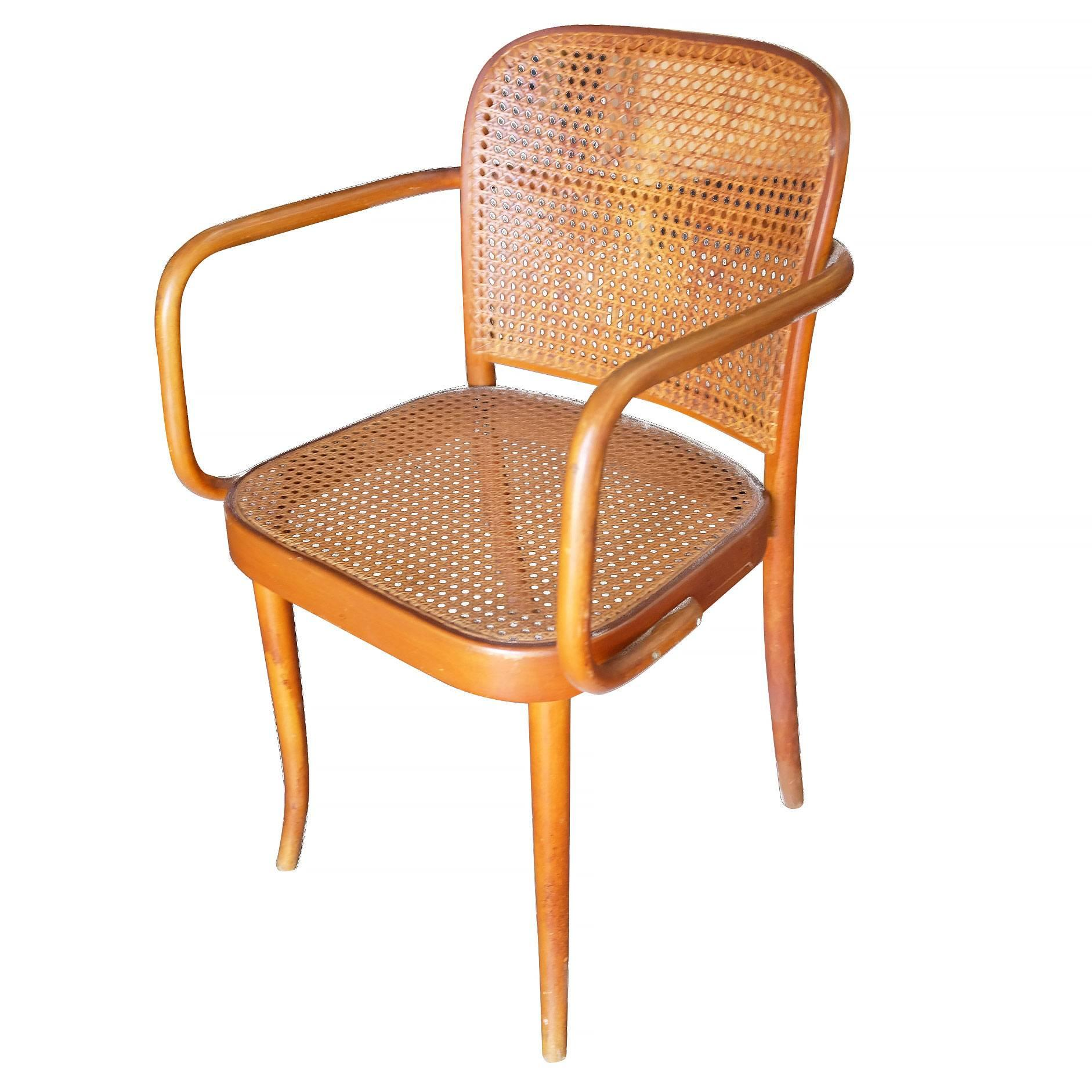 bentwood cane seat chairs fisher price high chair cover josef hoffmann no 811 by thonet set of four for number with bent beech wood frame
