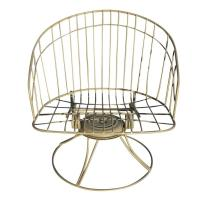 Homecrest Mid-Century Wire Barrel Chair and Side Table Set ...