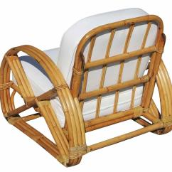 Round Bamboo Chair Folding Regina Spektor Chords Frankl Pretzel Arm Rattan Lounge Pair For