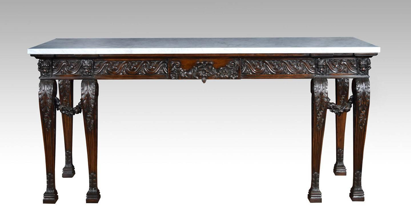 sofa table 84 inches recliners sofas uk george ii style mahogany console at 1stdibs