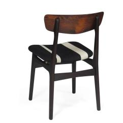 Striped Dining Chair Video Game Chairs Walmart Danish Rosewood With Black White