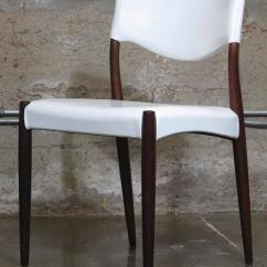 White Leather Chairs For Sale Chair Covers Rental Vancouver Danish Rosewood Dining In At