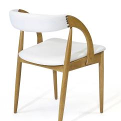 White Leather Chairs For Sale Ez Hang Chair Four Oak Dining In At