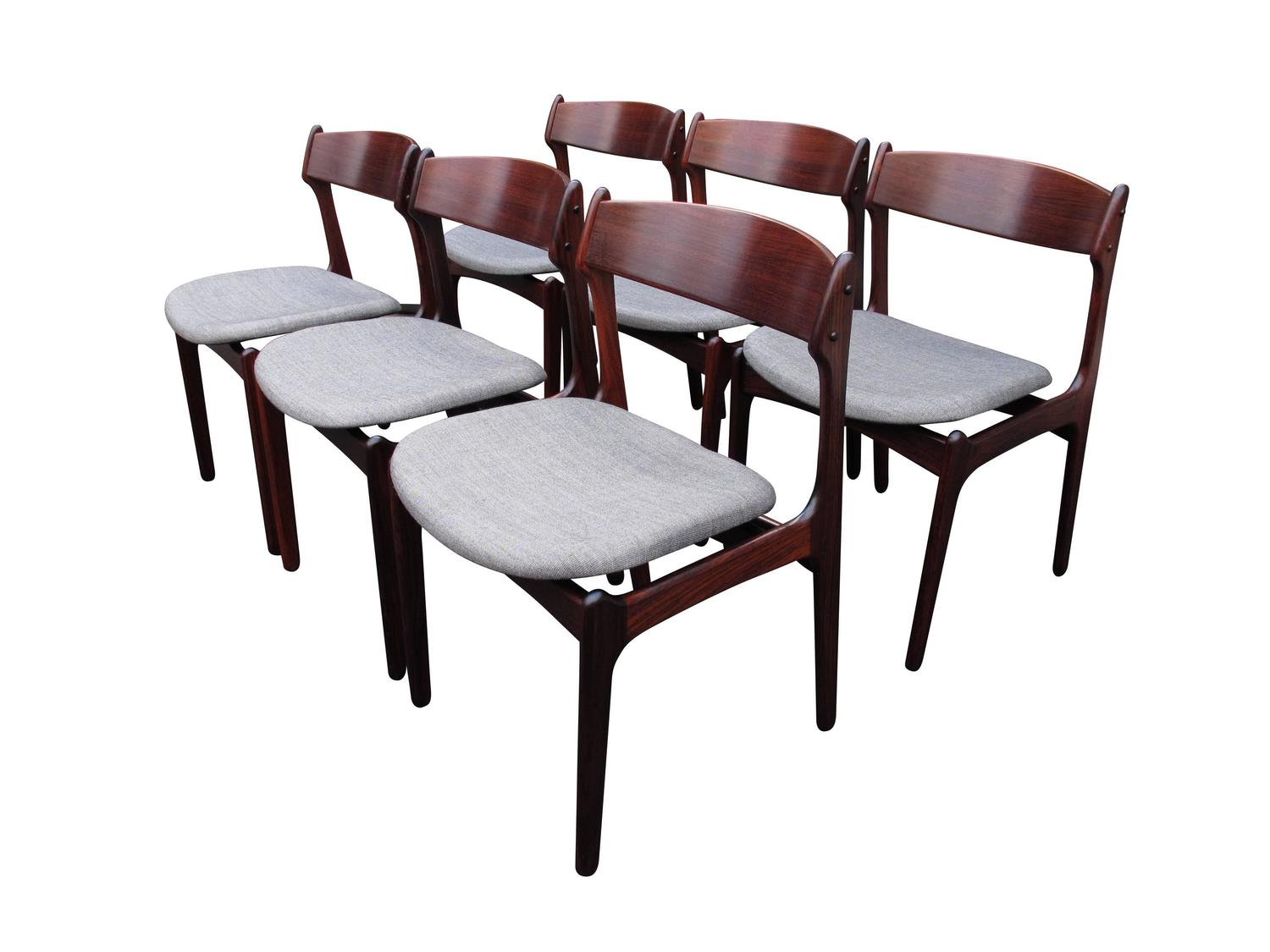 erik buck chairs chair covers norwich danish rosewood dining at 1stdibs