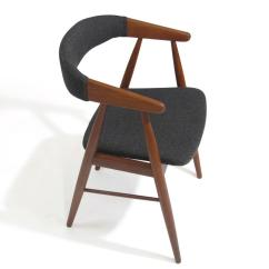 Teak Dining Room Chairs For Sale Ektorp Tullsta Chair Cover Danish Arm At 1stdibs