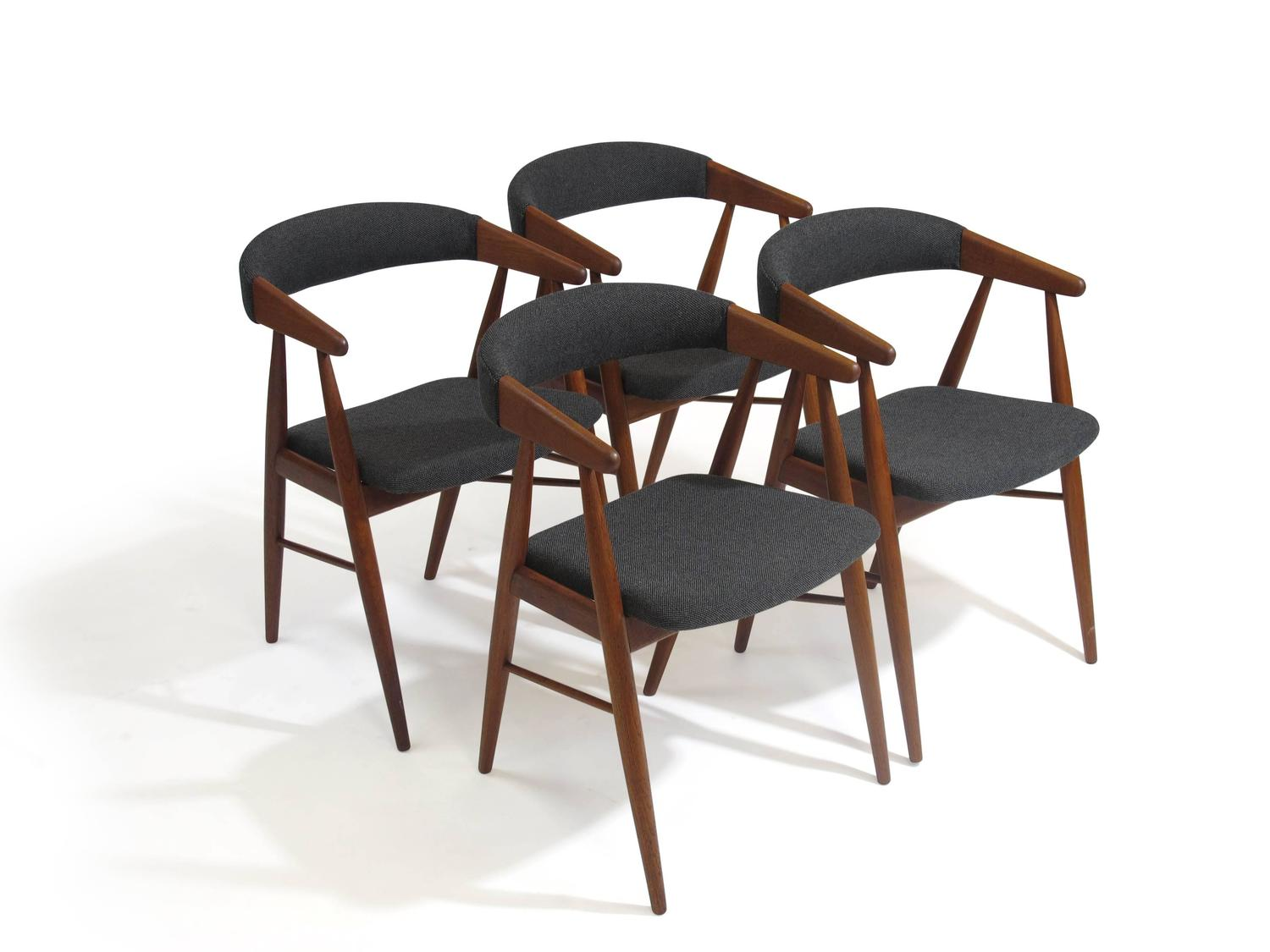 teak dining room chairs for sale makeup chair danish arm at 1stdibs
