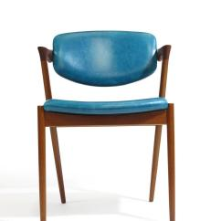 Turquoise Chairs Leather Red Sling Patio Chair Six Kai Kristiansen Teak Danish Dining In