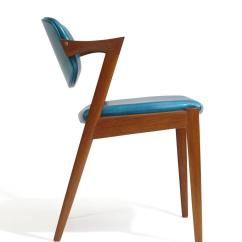 Turquoise Chairs Leather Hon Big And Tall Office Six Kai Kristiansen Teak Danish Dining In