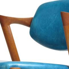 Turquoise Chairs Leather Desk Chair Dunelm Six Kai Kristiansen Teak Danish Dining In