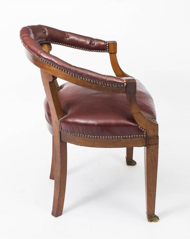 revolving chair colour dining set with 8 chairs antique second empire mahogany tub arm desk chair, circa 1850 for sale at 1stdibs