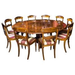 10 Chair Dining Table Set White Wingback Slipcover Burr Walnut Jupe And Ten Chairs At 1stdibs