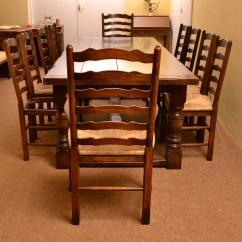 Solid Oak Dining Table And Chairs Discontinued Bespoke Refectory Ten