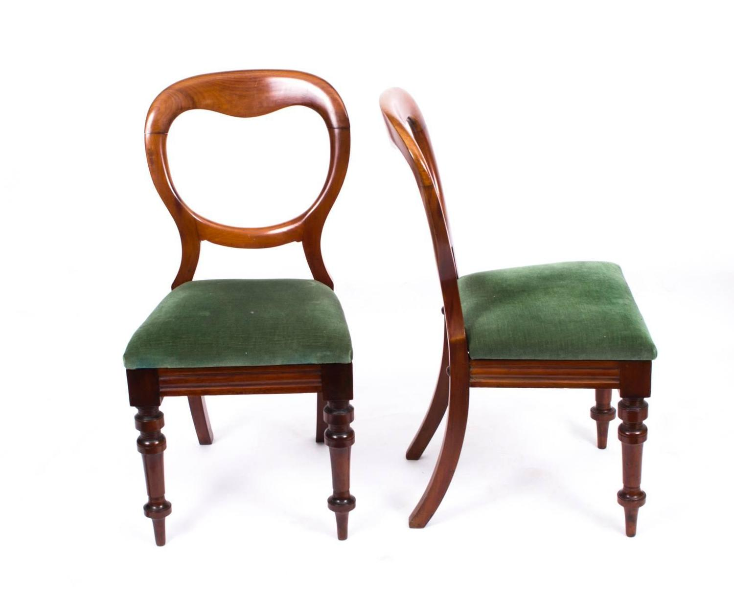 Balloon Chair For Sale Antique Set Of Ten Victorian Balloon Back Dining Chairs