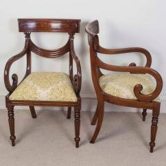 Dining Chair Styles Antique Xe Wheelchair Set Of 16 Vintage Regency Style Chairs Swag Back