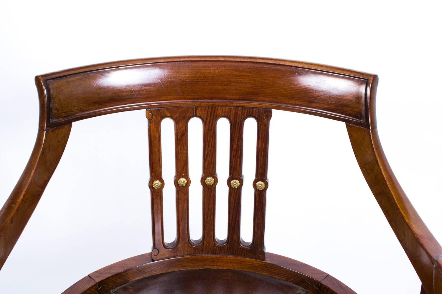 revolving desk chair how to upholster a antique french empire circa 1870 at