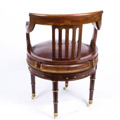 Revolving Desk Chair Marais Knock Off Antique French Empire Circa 1870 At