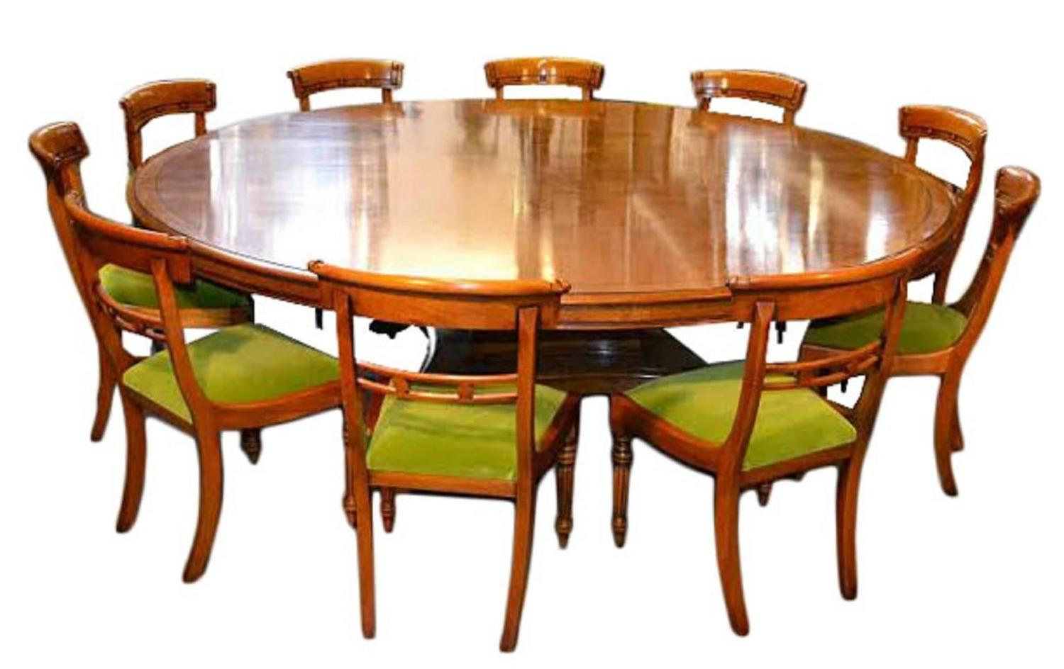 large round oak dining table 8 chairs bo concept vintage regency pollard for sale at