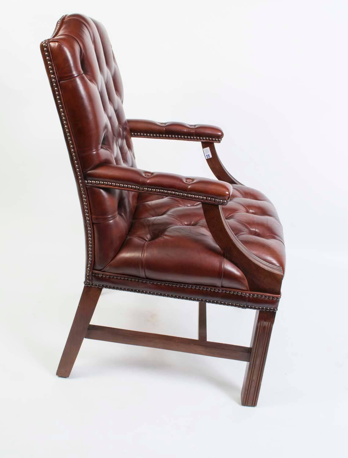 unique leather office chairs reclining uk english handmade gainsborough desk chair for sale