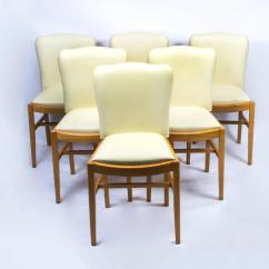 Maple Dining Room Chairs How Much To Hire Chair Covers And Sashes Antique Art Deco Bird 39s Eye Table Six