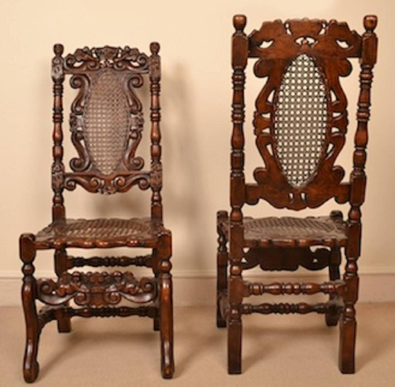 dining chair styles antique wicker swivel outdoor vintage set of eight carolean style oak chairs for