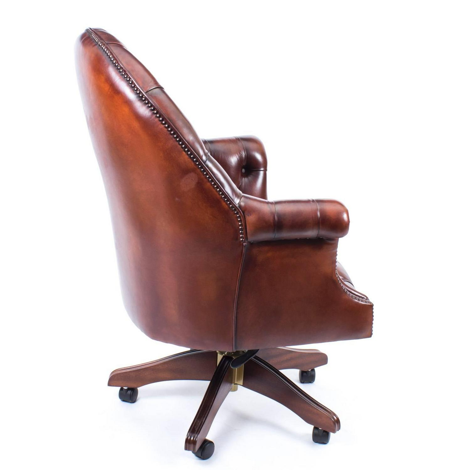 unique leather office chairs sure fit chair covers nz english handmade directors desk bbo at 1stdibs