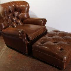 Ralph Lauren Living Room Furniture Antique Large Vintage Brown Leather Armchair With ...