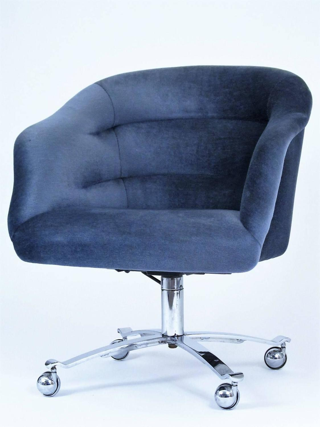Plush Office Chair Pair Of Plush Mohair Upholstered Chairs Designed By Ward