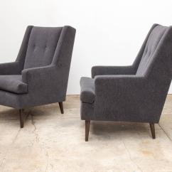 Chairs For Tall Man Semco White Rocking Chair Pair Of Edward Wormley Quottall Quot Dunbar