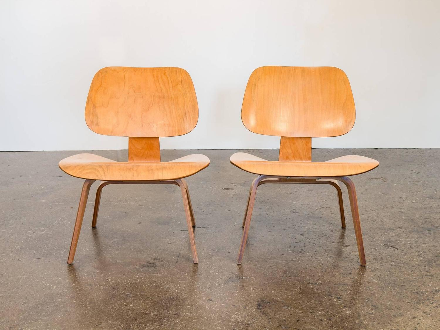 eames lcw chair woven bistro chairs lounge for herman miller sale at 1stdibs